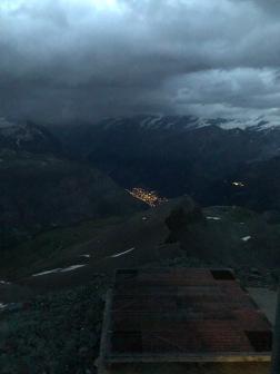 Zermatt séð frá skálanum
